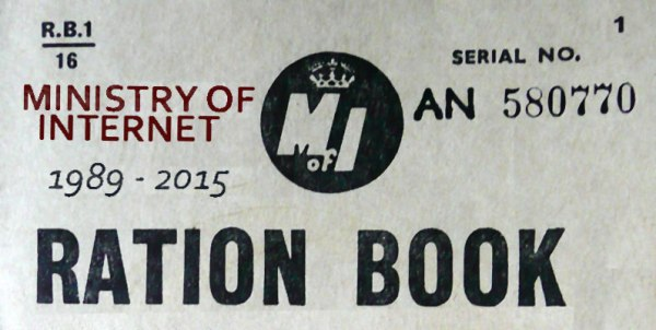 Ministry of Internet ration book