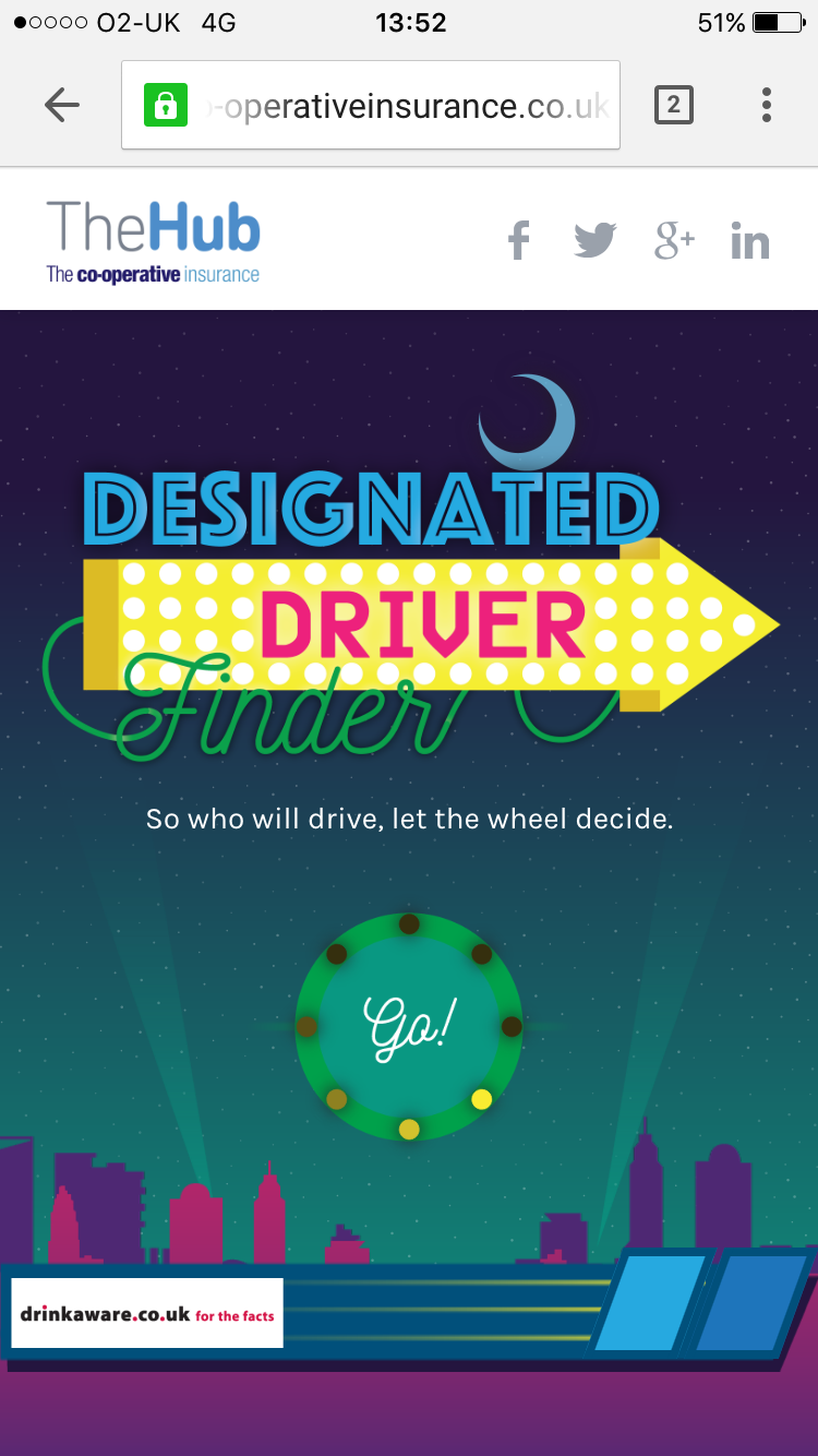 Designated Driver Finder Hompage image 1