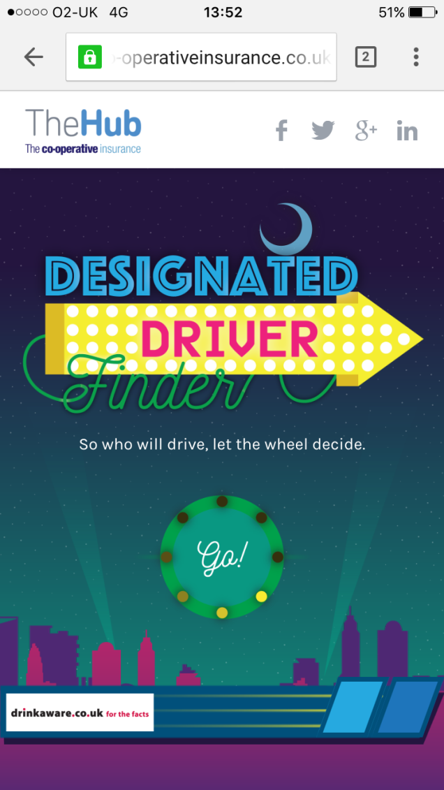 Designated Driver Finder Hompage image 1