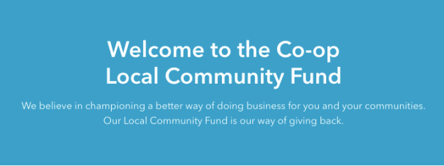 Screen Shot from Co-op Local Community Fund