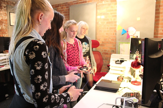 Picture of girls at Liverpool Geek Girls