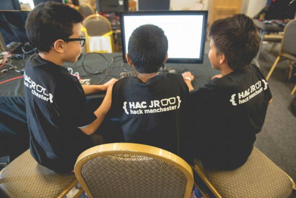 Picture of children at Hack Manchester Junior