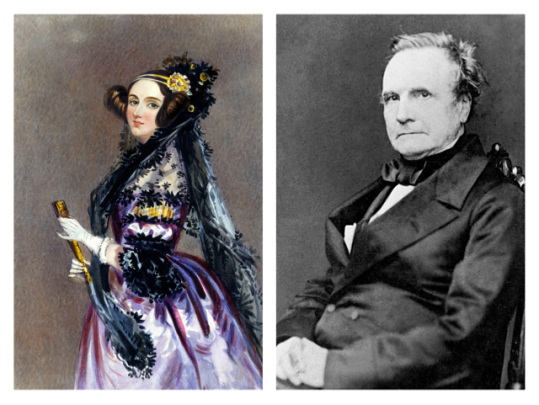 Picture of Ada Lovelace and Charles Babbage