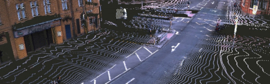 Picture of a road showing how driverless cars navigate