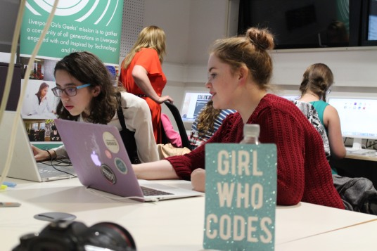 Picture from one of the Liverpool Geek Girl Academy sessions