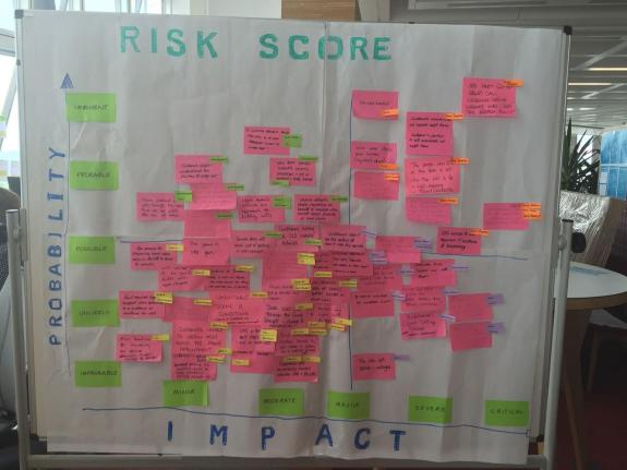 Picture of the output from the wills risk session