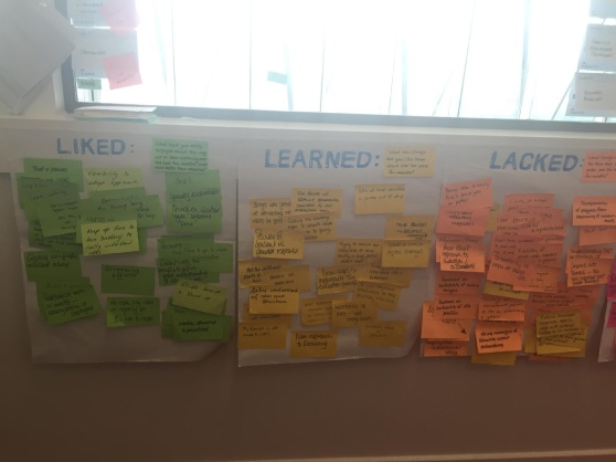Picture of the output from the recruitment retrospective