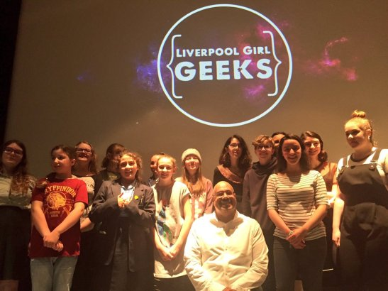 A picture of all the attendees of Liverpool Geek Girl Academy