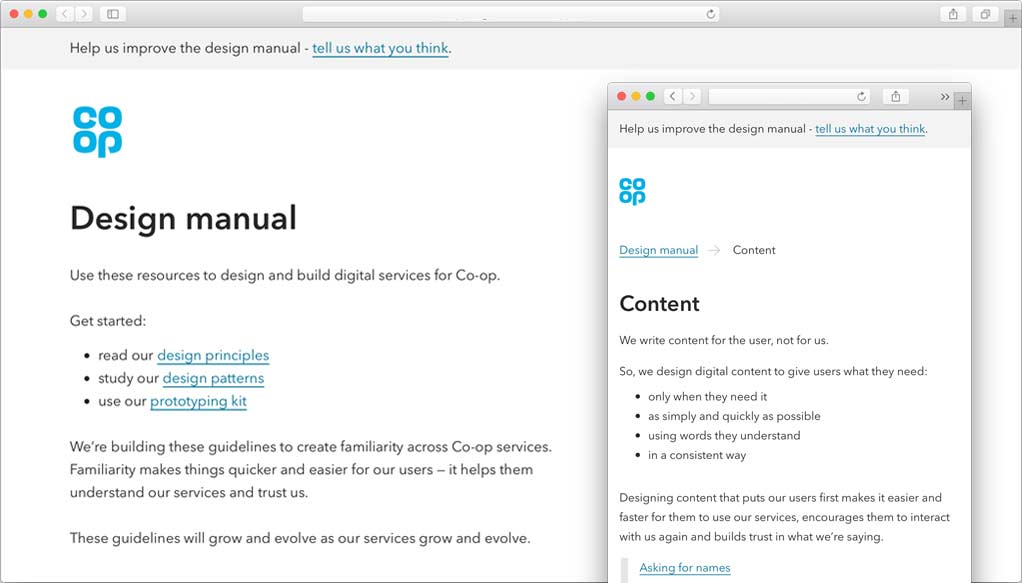 We've released coop co uk/designmanual – Co-op Digital Blog