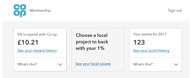 screen shot of what the page looks like in a member's account who hasn't chosen a local cause yet.