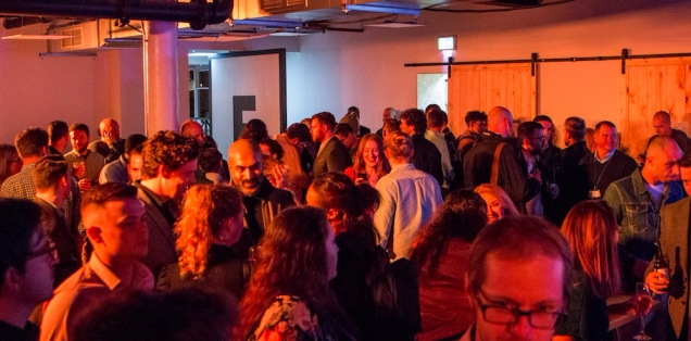 Photograph of some of the community at the launch party.