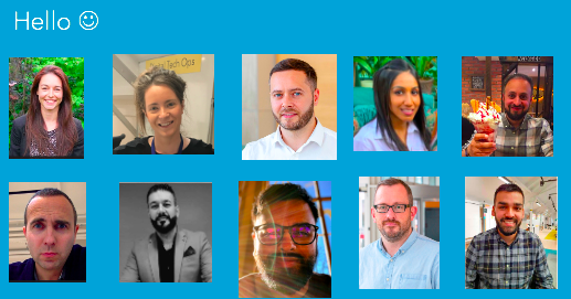 headshots of the digital services team
